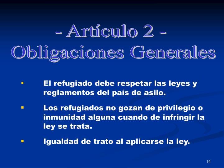 - Artículo 2 -