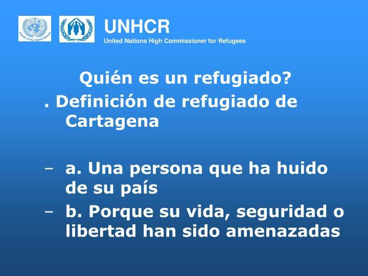 Quién es un refugiado?