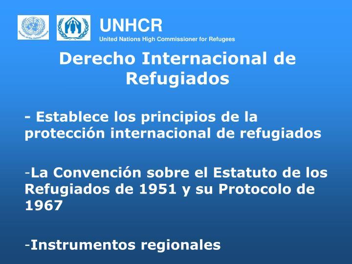 Derecho Internacional de Refugiados