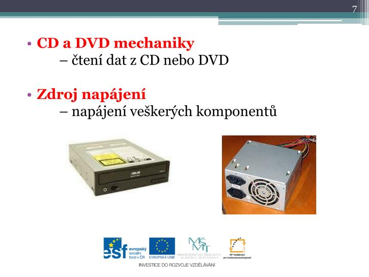 CD a DVD mechaniky
