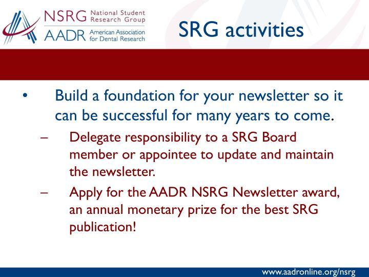 SRG activities