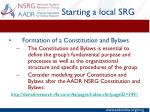 starting a local srg2
