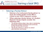 starting a local srg7