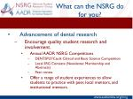 what can the nsrg do for you3
