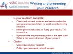 writing and presenting your research11