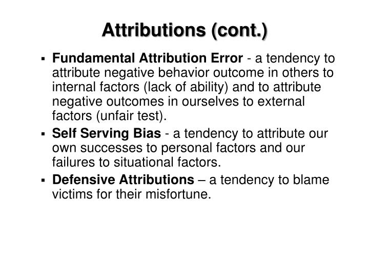 Attributions (cont.)