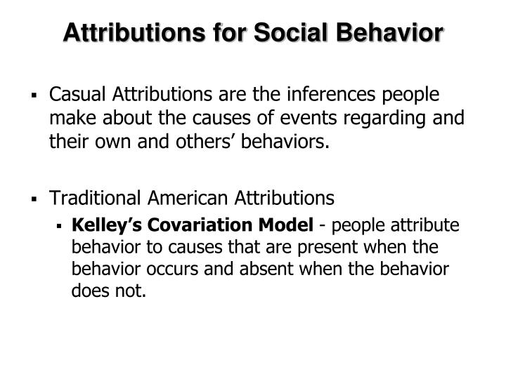 Attributions for Social Behavior