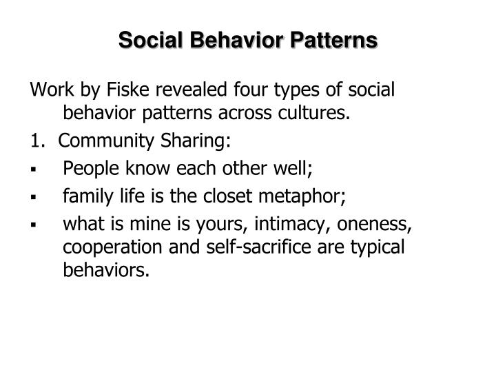 Social Behavior Patterns