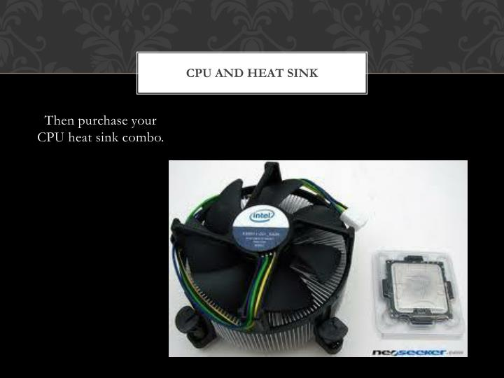 Cpu and heat sink