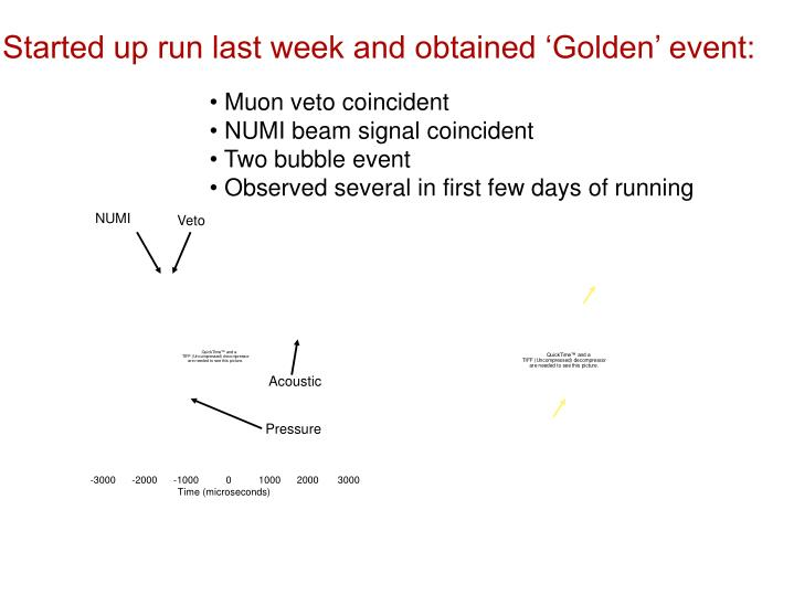 Started up run last week and obtained 'Golden' event: