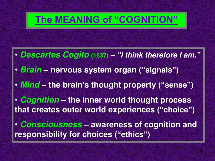 "The MEANING of ""COGNITION"""