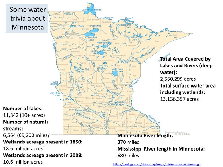 Some water trivia about Minnesota