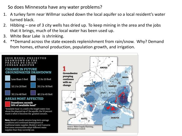 So does Minnesota have any water problems?