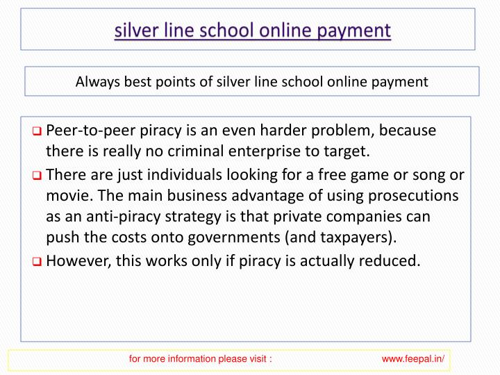 Silver line school online payment