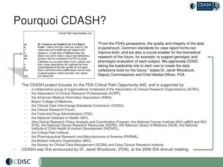 Pourquoi CDASH?