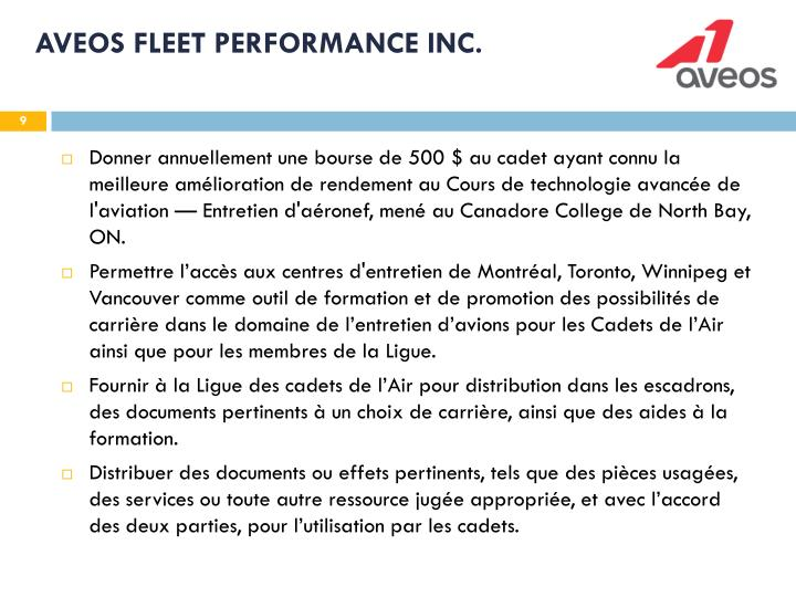 AVEOS FLEET PERFORMANCE INC.