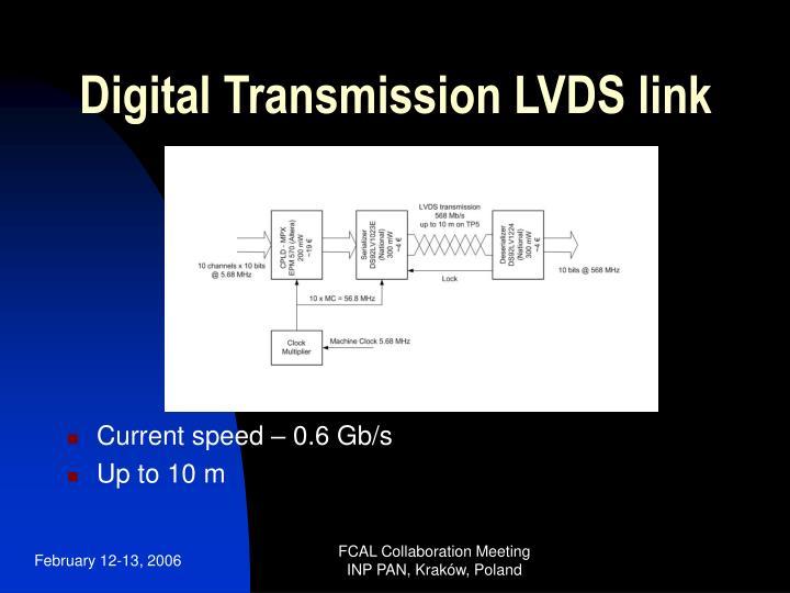 Digital Transmission LVDS link