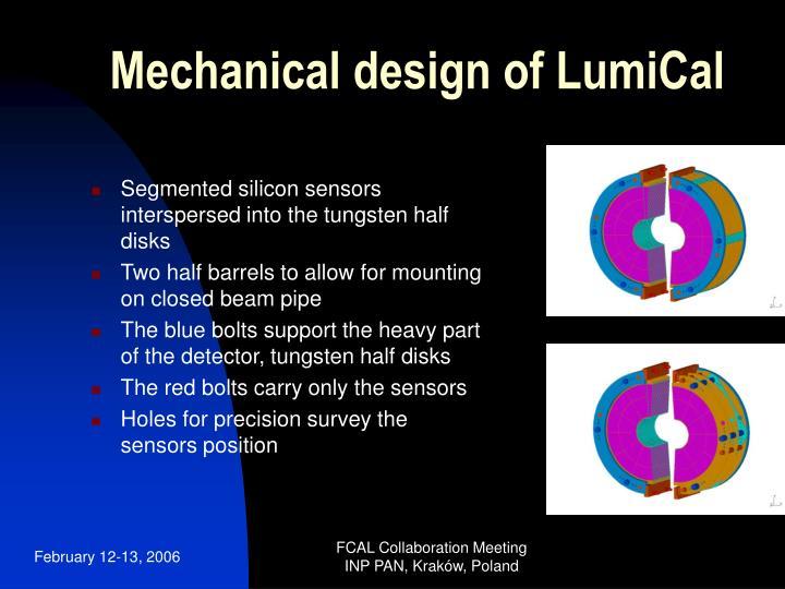 Mechanical design of LumiCal