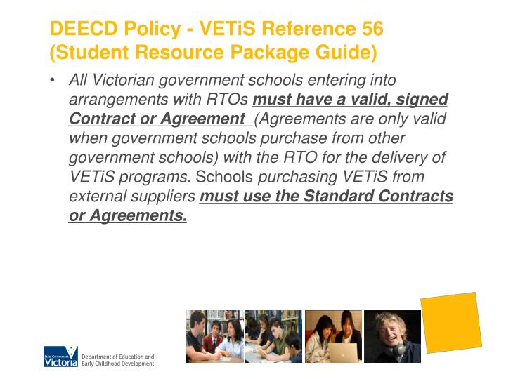 DEECD Policy - VETiS Reference 56