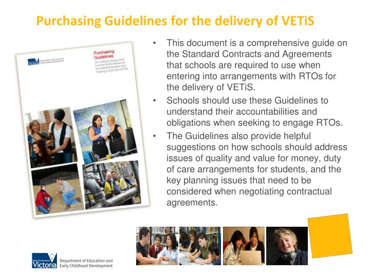 Purchasing Guidelines for the delivery of VETiS