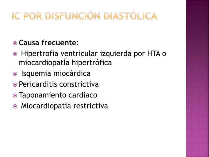 Ic por disfunción diastólica