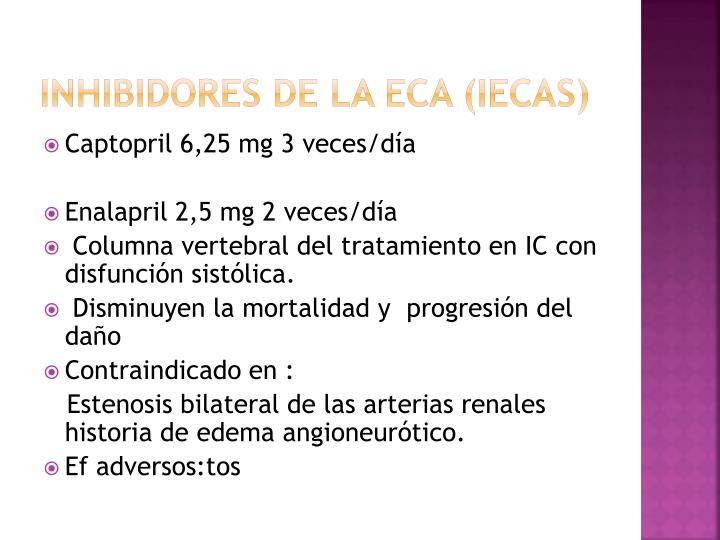 Inhibidores de la ECA (IECAs)