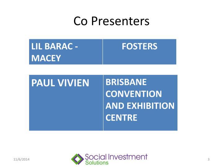 Co Presenters