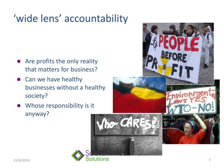 'wide lens' accountability