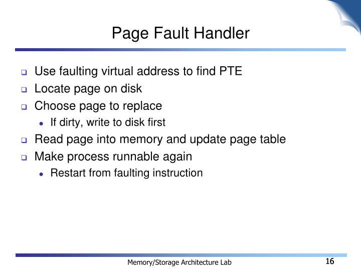 Page Fault Handler