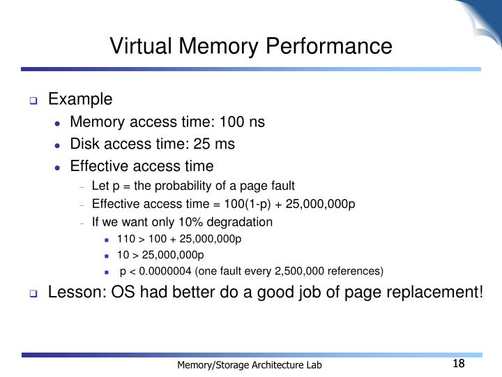 Virtual Memory Performance