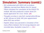 simulation summary contd