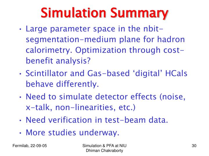 Simulation Summary