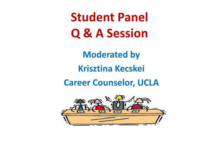Student Panel