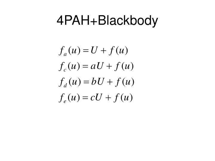 4PAH+Blackbody