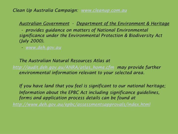 Clean Up Australia Campaign: