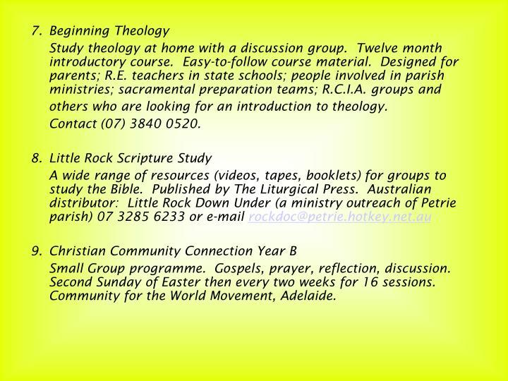 7.Beginning Theology