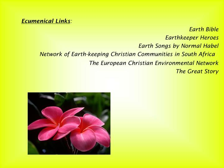 Ecumenical Links