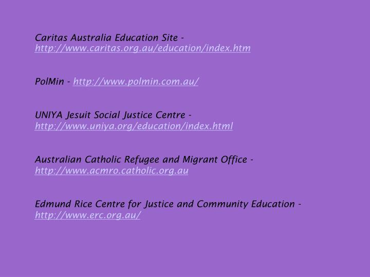 Caritas Australia Education Site -