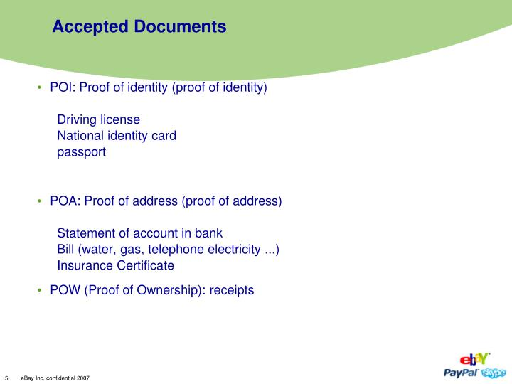Accepted Documents