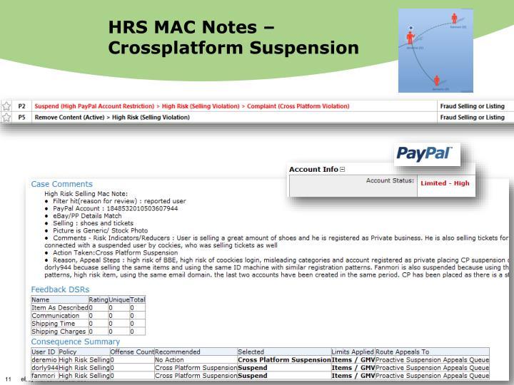 HRS MAC Notes – Crossplatform Suspension