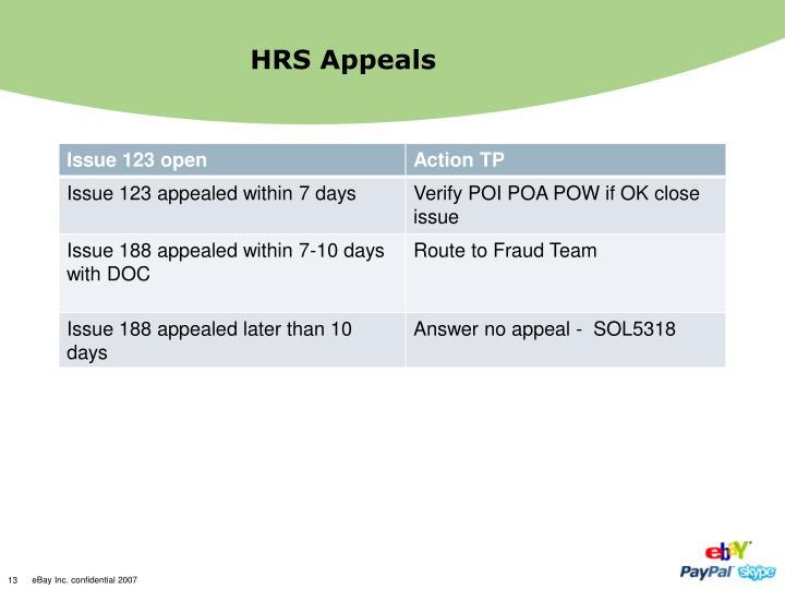 HRS Appeals