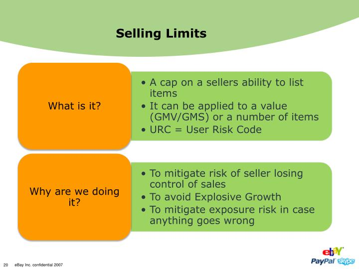 Selling Limits