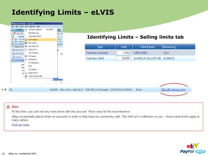 Identifying Limits – eLVIS