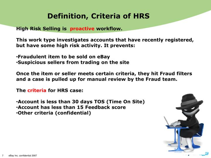 Definition, Criteria of HRS