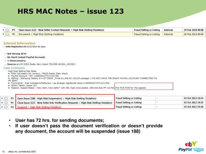 HRS MAC Notes – issue 123