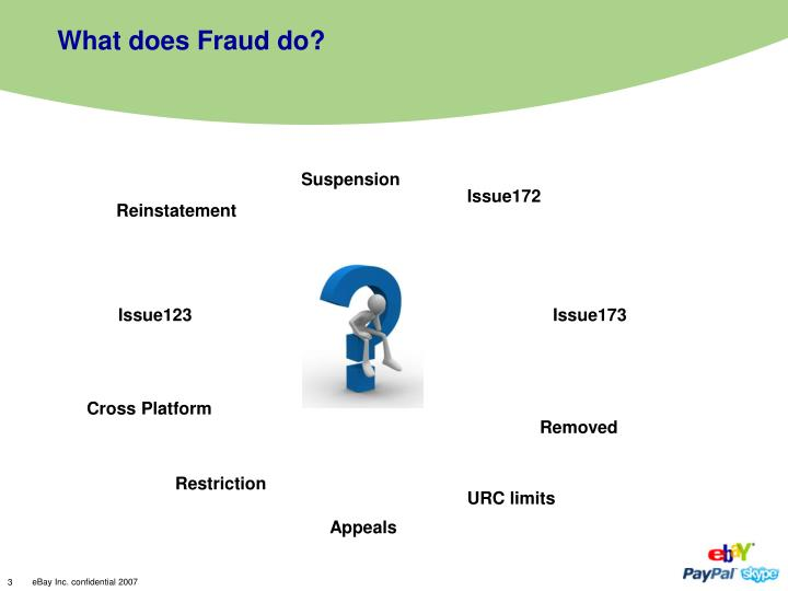 What does fraud do