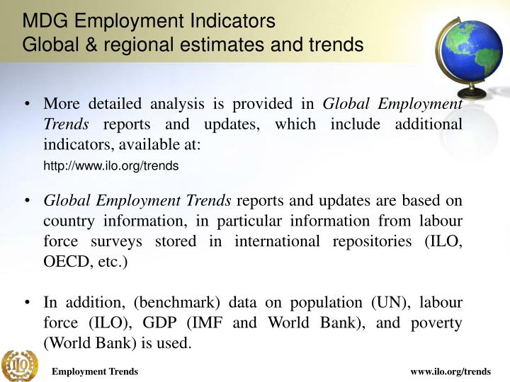 MDG Employment Indicators