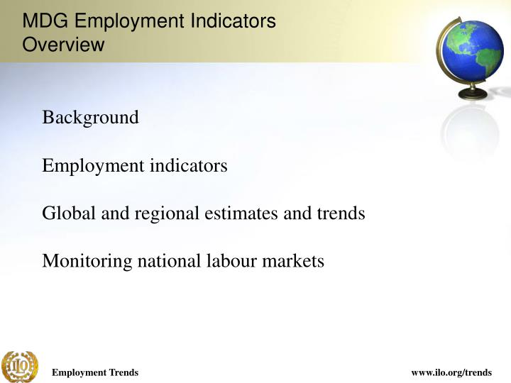 Mdg employment indicators overview