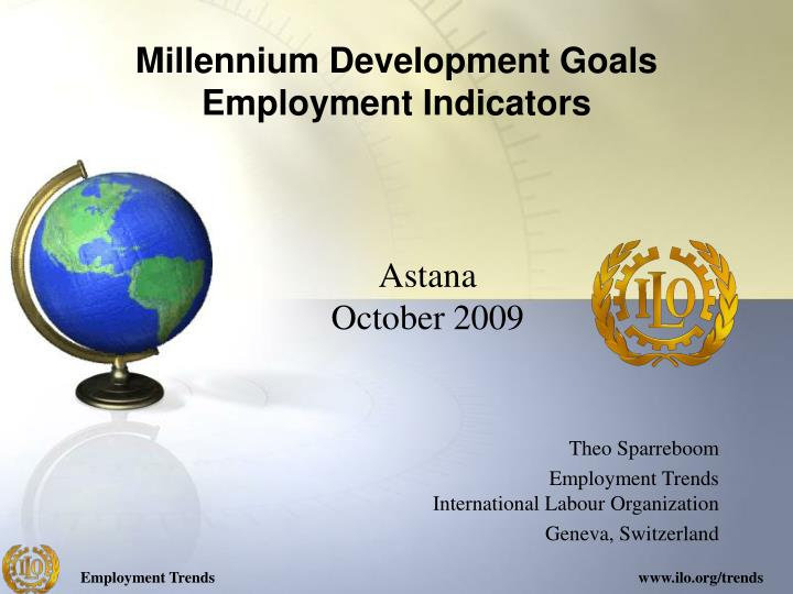Millennium development goals employment indicators