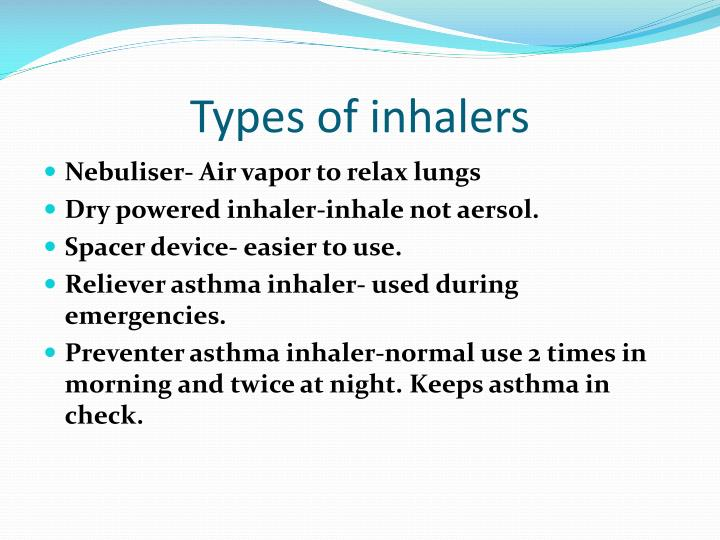 Types of inhalers